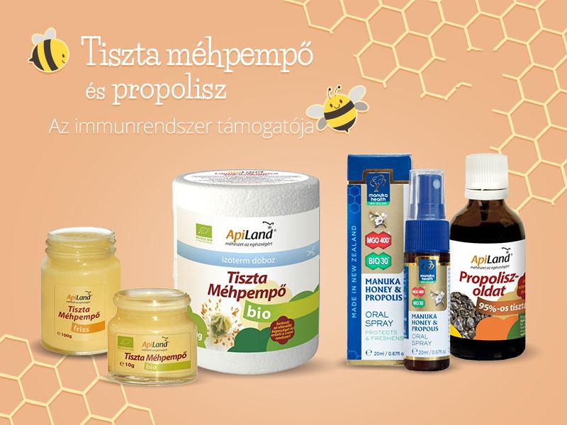 Apiland Méhpempő, propolisz, virágpor, méhkenyér és lépesméz