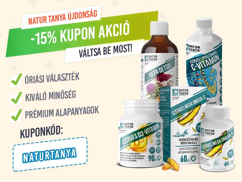 -15% Kedvezmény minden Natur Tanya termékekre!